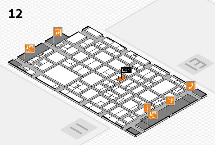 MEDICA 2016 hall map (Hall 12): stand E34