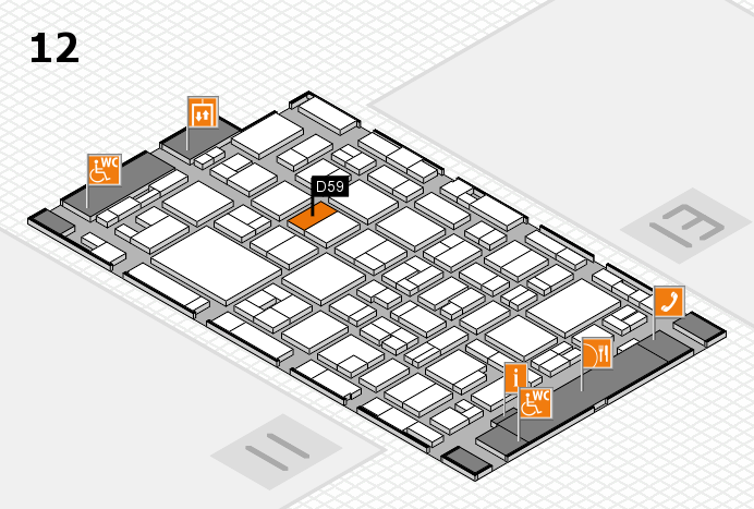 MEDICA 2016 hall map (Hall 12): stand D59