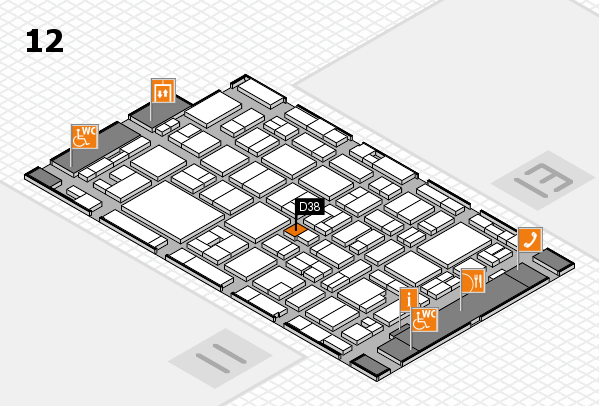 MEDICA 2016 hall map (Hall 12): stand D38