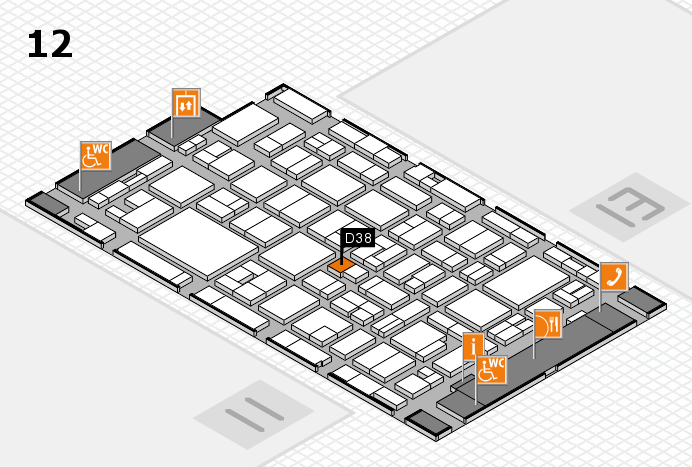 MEDICA 2016 hall map (Hall 12): stand D38