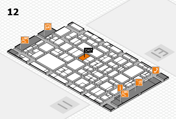 MEDICA 2016 hall map (Hall 12): stand D47