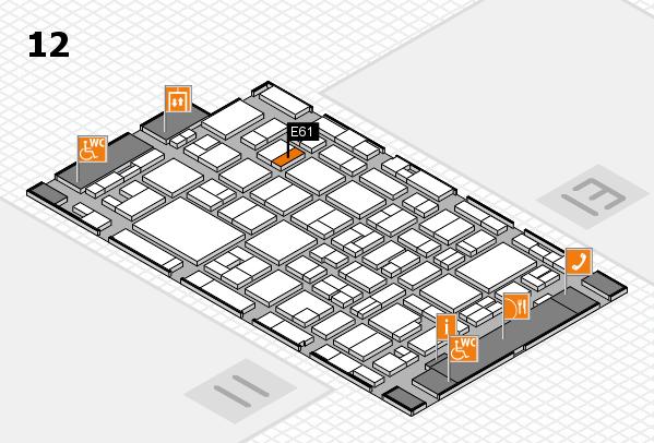MEDICA 2016 hall map (Hall 12): stand E61