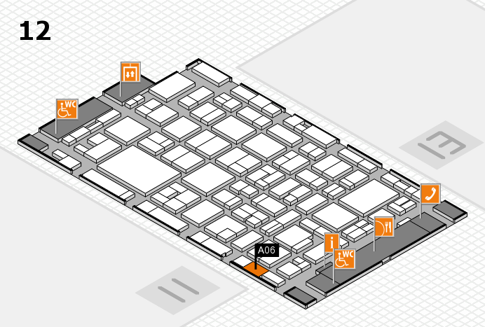 MEDICA 2016 hall map (Hall 12): stand A06
