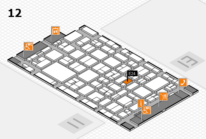MEDICA 2016 hall map (Hall 12): stand E24
