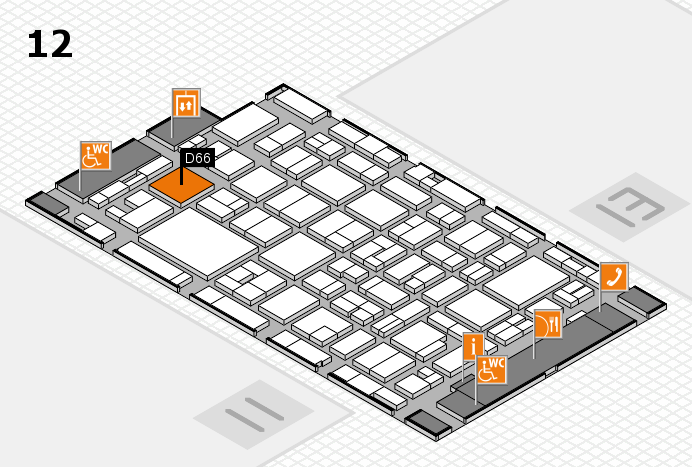 MEDICA 2016 hall map (Hall 12): stand D66
