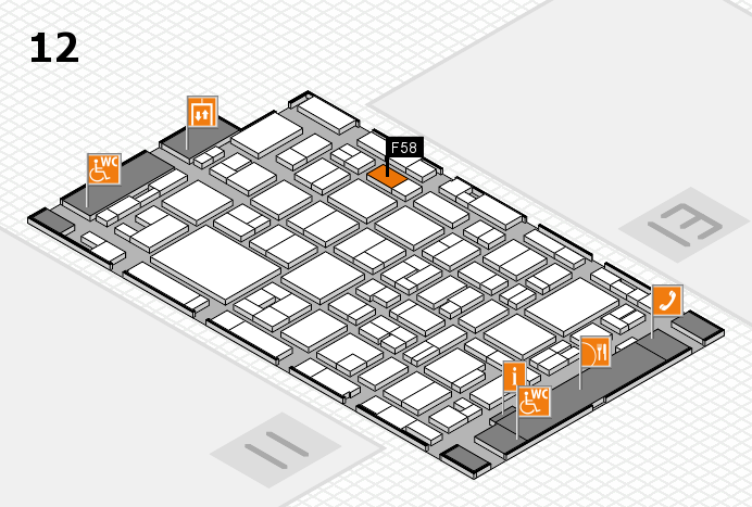 MEDICA 2016 hall map (Hall 12): stand F58