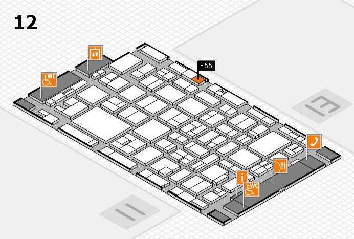 MEDICA 2016 hall map (Hall 12): stand F55