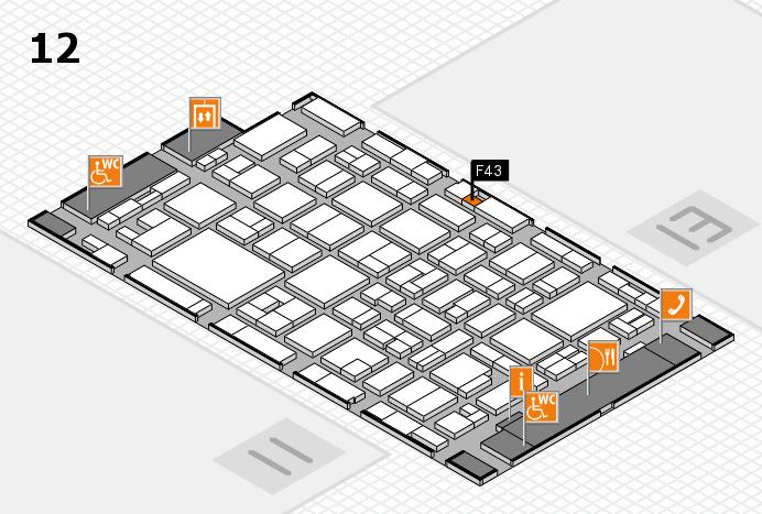 MEDICA 2016 hall map (Hall 12): stand F43
