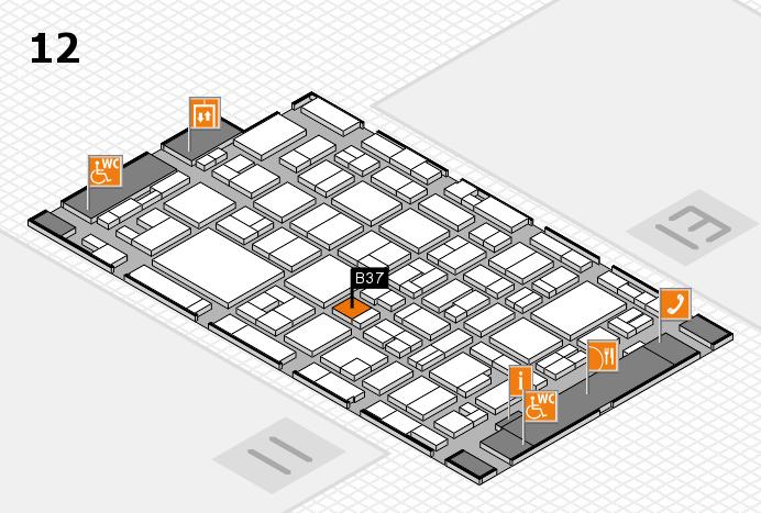 MEDICA 2016 hall map (Hall 12): stand B37