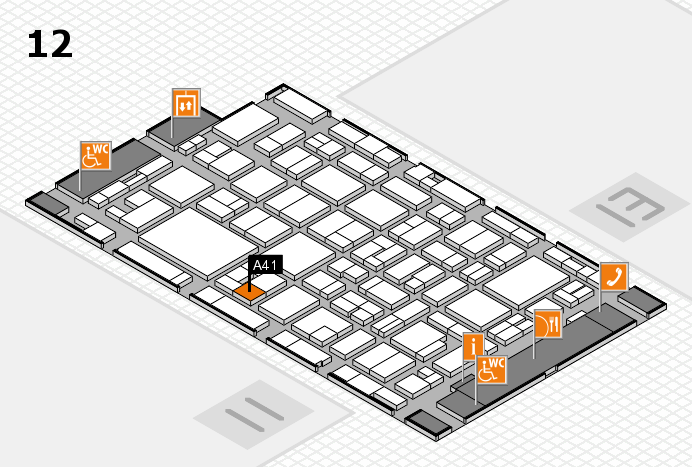 MEDICA 2016 hall map (Hall 12): stand A41