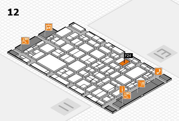 MEDICA 2016 Hallenplan (Halle 12): Stand F24
