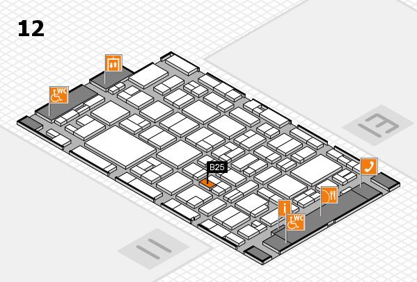 MEDICA 2016 hall map (Hall 12): stand B25