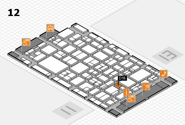 MEDICA 2016 hall map (Hall 12): stand D18