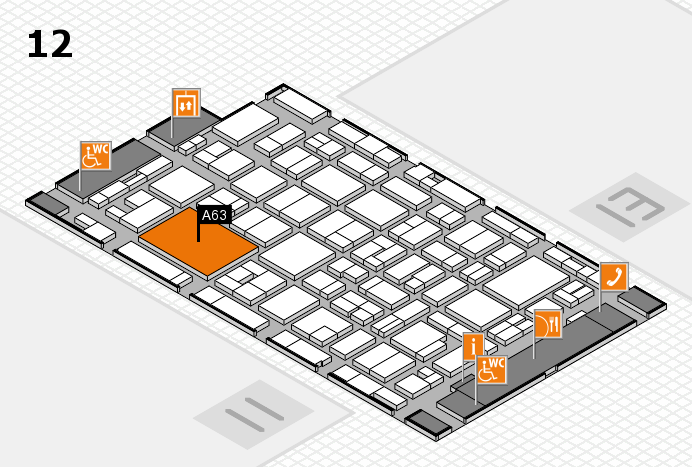 MEDICA 2016 hall map (Hall 12): stand A63