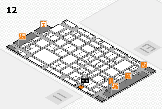 MEDICA 2016 hall map (Hall 12): stand A18