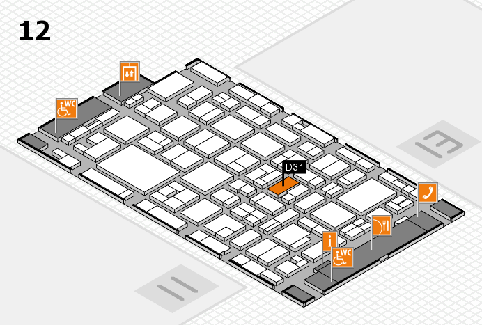MEDICA 2016 hall map (Hall 12): stand D31