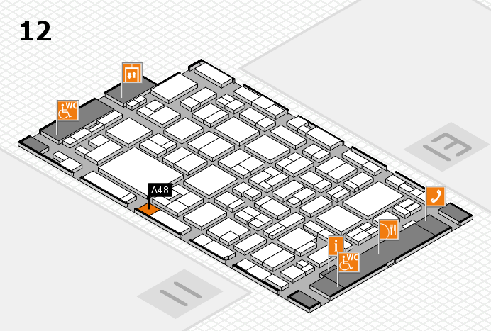 MEDICA 2016 hall map (Hall 12): stand A48