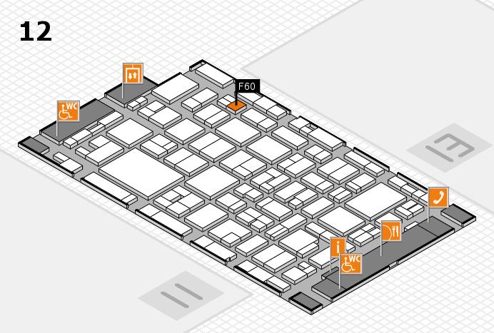 MEDICA 2016 hall map (Hall 12): stand F60