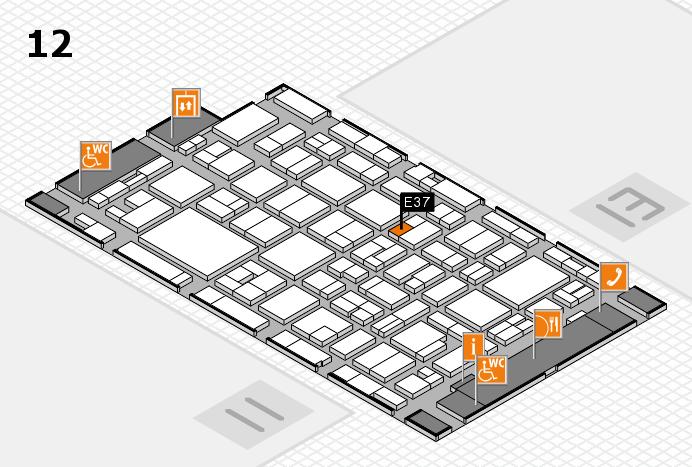 MEDICA 2016 hall map (Hall 12): stand E37