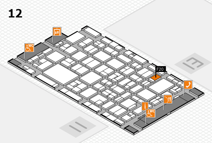 MEDICA 2016 hall map (Hall 12): stand F20