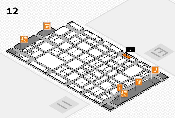 MEDICA 2016 Hallenplan (Halle 12): Stand F31