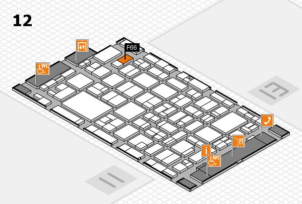 MEDICA 2016 hall map (Hall 12): stand F66