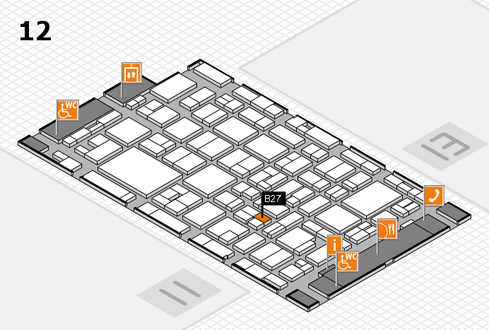 MEDICA 2016 hall map (Hall 12): stand B27