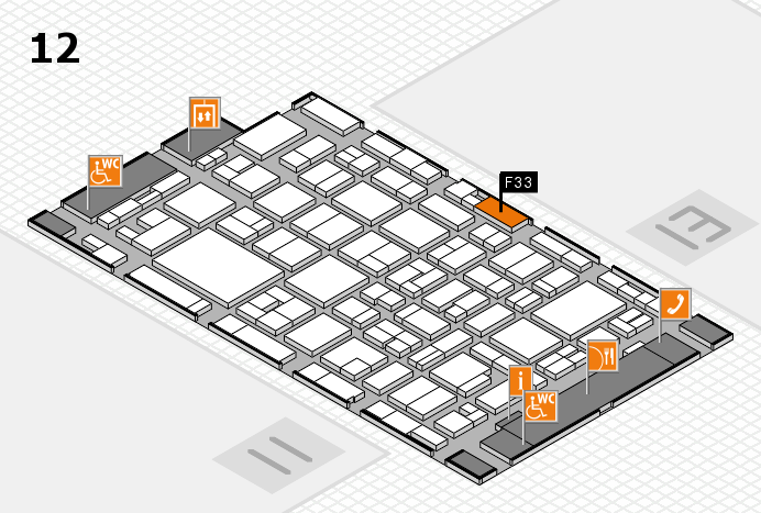 MEDICA 2016 hall map (Hall 12): stand F33