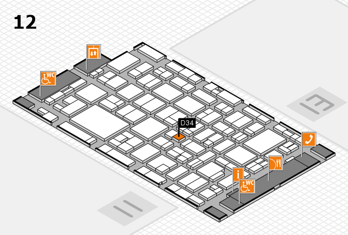 MEDICA 2016 hall map (Hall 12): stand D34