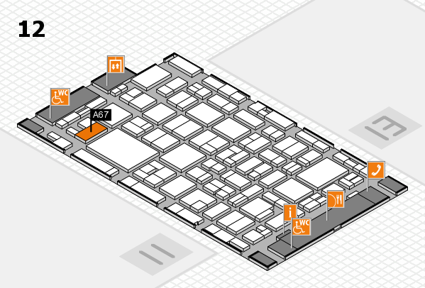 MEDICA 2016 hall map (Hall 12): stand A67