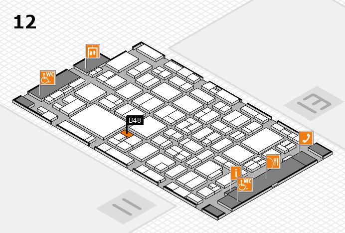 MEDICA 2016 hall map (Hall 12): stand B48