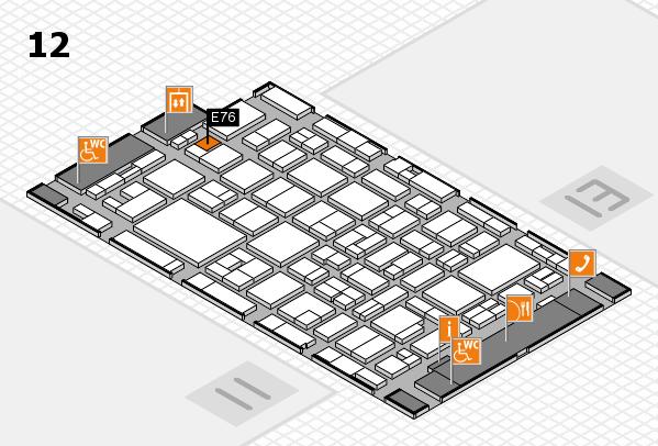 MEDICA 2016 hall map (Hall 12): stand E76
