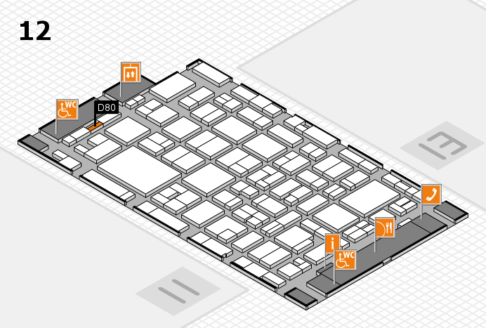 MEDICA 2016 hall map (Hall 12): stand D80