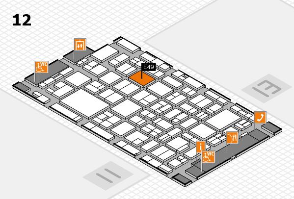 MEDICA 2016 hall map (Hall 12): stand E49