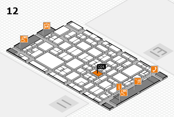 MEDICA 2016 hall map (Hall 12): stand D24