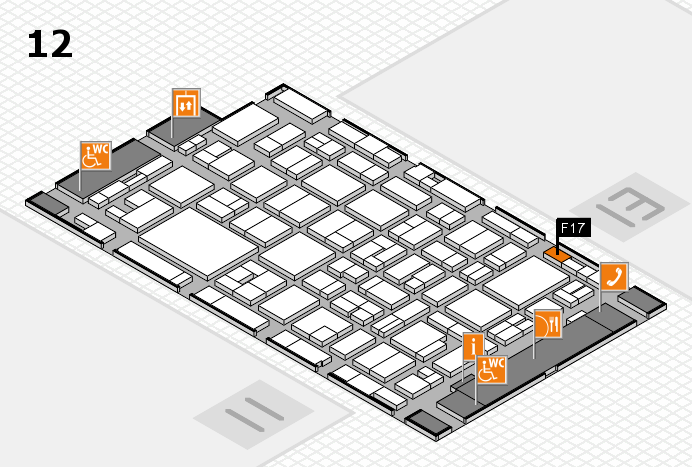 MEDICA 2016 hall map (Hall 12): stand F17
