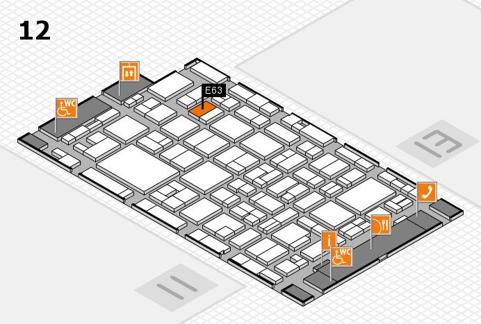MEDICA 2016 hall map (Hall 12): stand E63