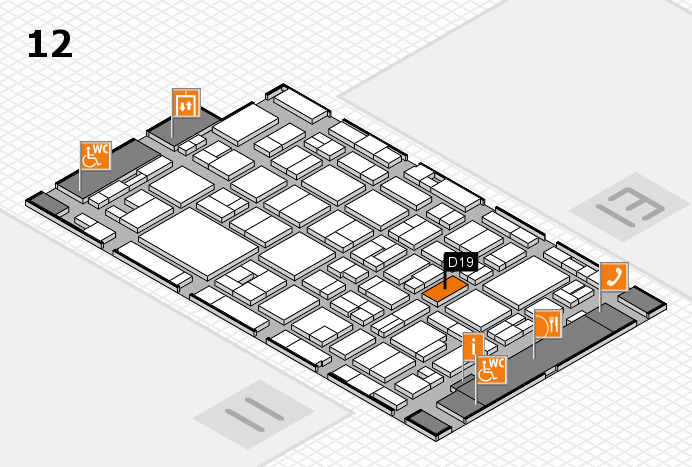 MEDICA 2016 hall map (Hall 12): stand D19