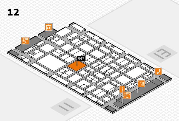 MEDICA 2016 hall map (Hall 12): stand B47