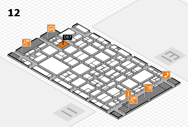 MEDICA 2016 hall map (Hall 12): stand D67