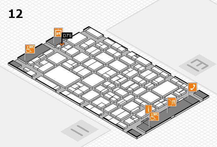 MEDICA 2016 hall map (Hall 12): stand D79