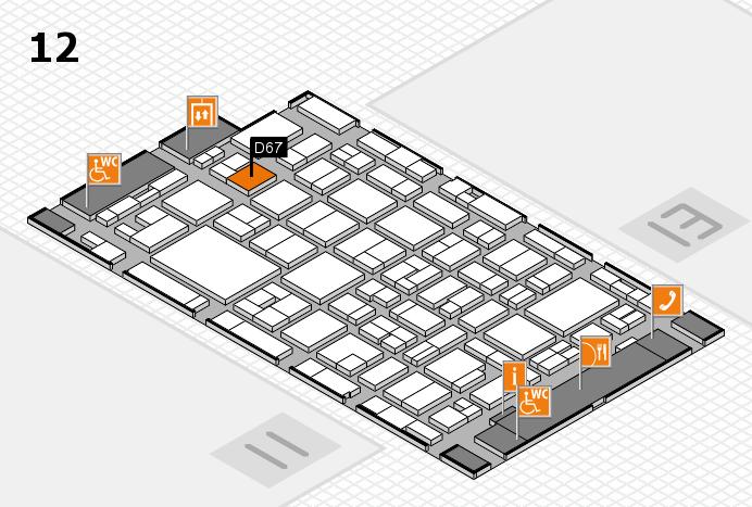 MEDICA 2016 hall map (Hall 12): stand D67