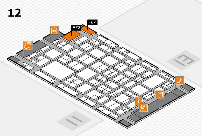 MEDICA 2016 hall map (Hall 12): stand E73, stand F67