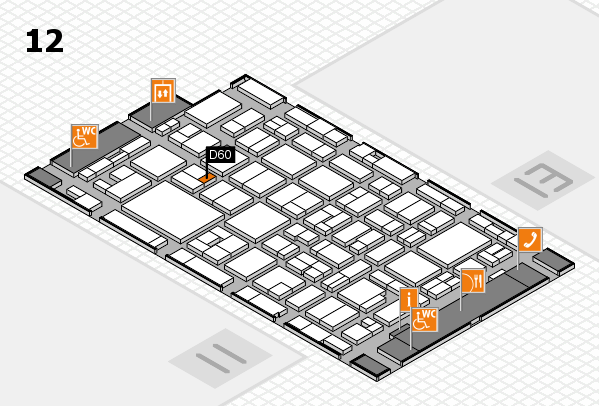 MEDICA 2016 hall map (Hall 12): stand D60