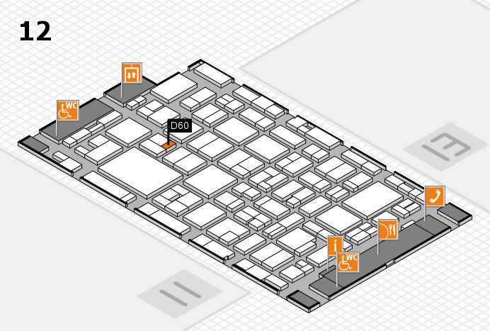 MEDICA 2016 Hallenplan (Halle 12): Stand D60
