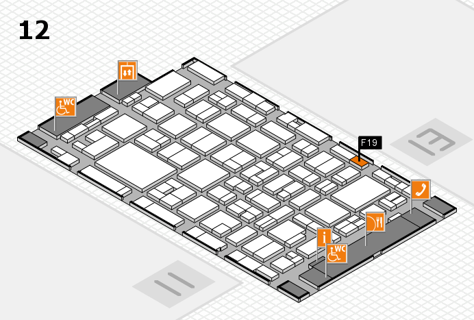 MEDICA 2016 hall map (Hall 12): stand F19