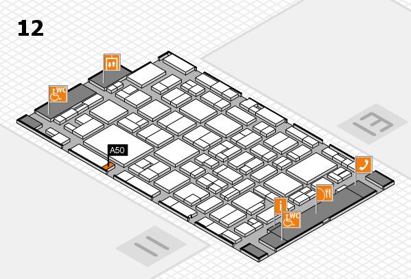 MEDICA 2016 Hallenplan (Halle 12): Stand A50
