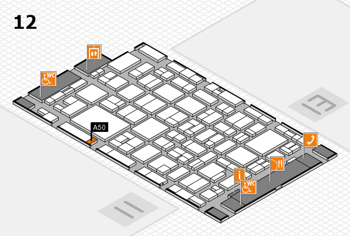 MEDICA 2016 hall map (Hall 12): stand A50