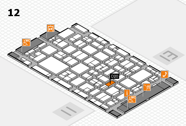 MEDICA 2016 hall map (Hall 12): stand D20