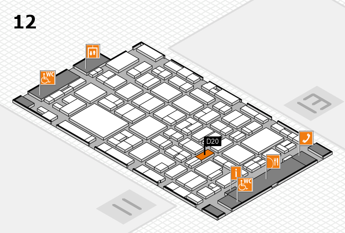 MEDICA 2016 hall map (Hall 12): stand D20